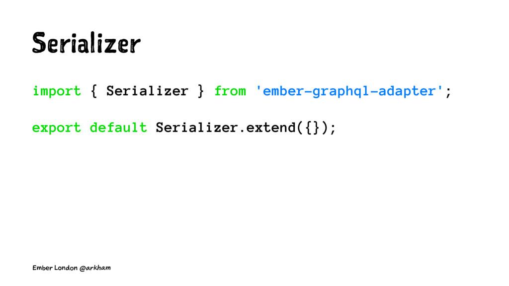 Serializer import { Serializer } from 'ember-gr...