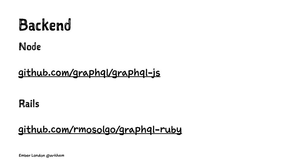 Backend Node github.com/graphql/graphql-js Rail...