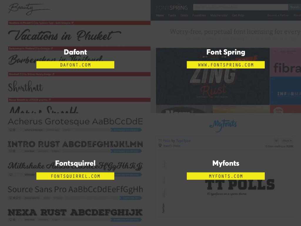Dafont DAFONT.COM Font Spring WWW.FONTSPRING.CO...