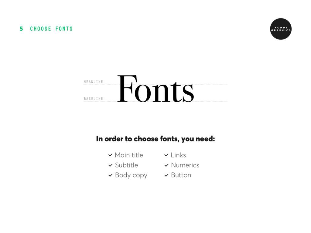 CHOOSE FONTS 5 In order to choose fonts, yοu ne...