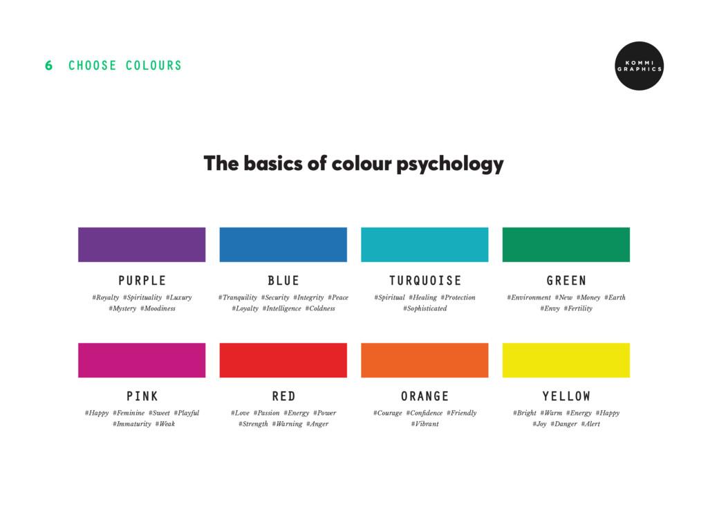 CHOOSE COLOURS 6 The basics of colour psycholog...