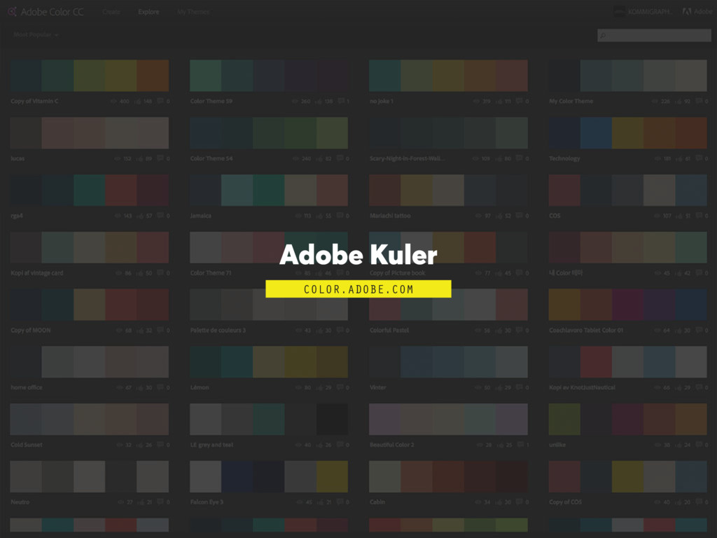 Adobe Kuler COLOR.ADOBE.COM