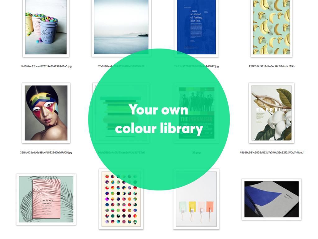 Your own colour library