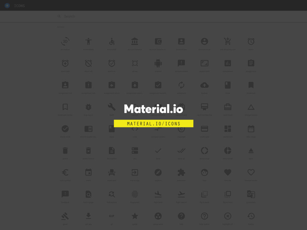 Material.io MATERIAL.IO/ICONS