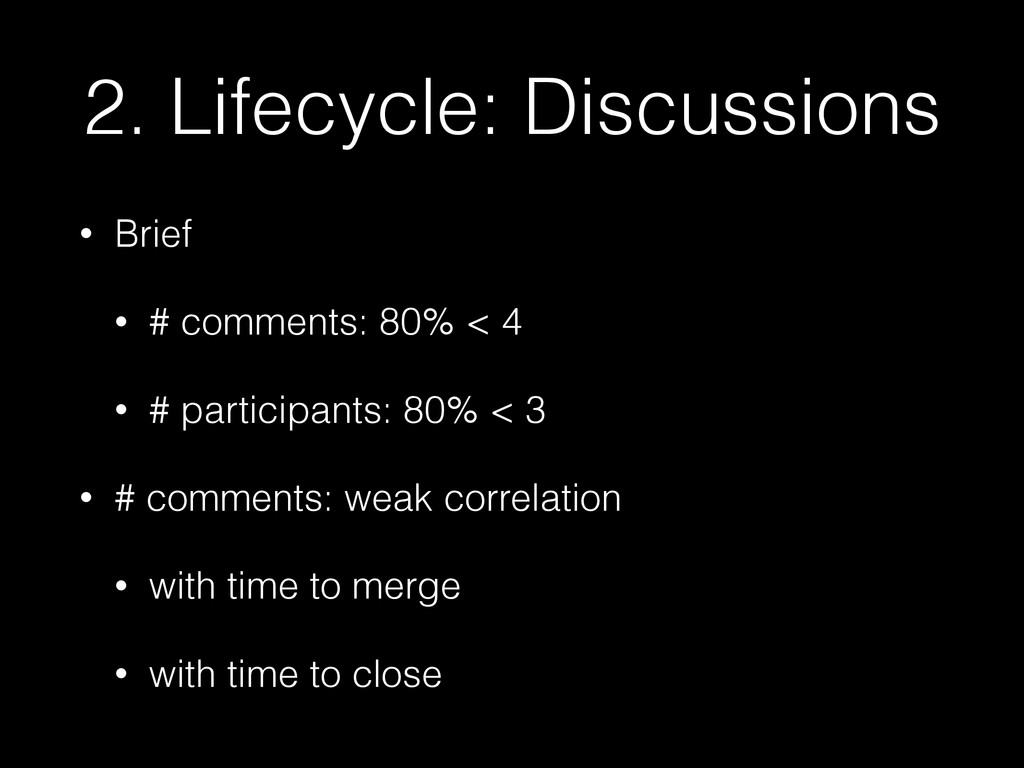 2. Lifecycle: Discussions • Brief • # comments:...