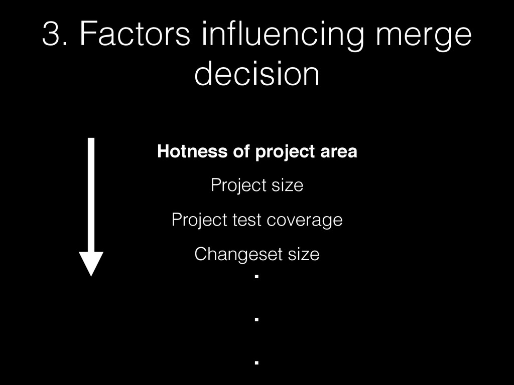 3. Factors influencing merge decision Hotness of...