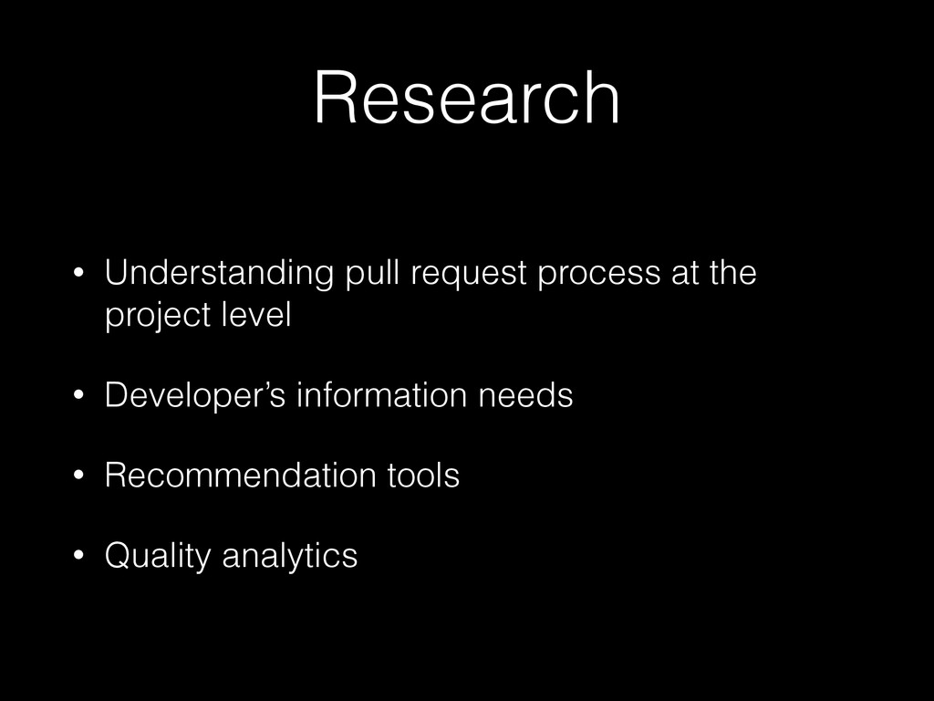 Research • Understanding pull request process a...