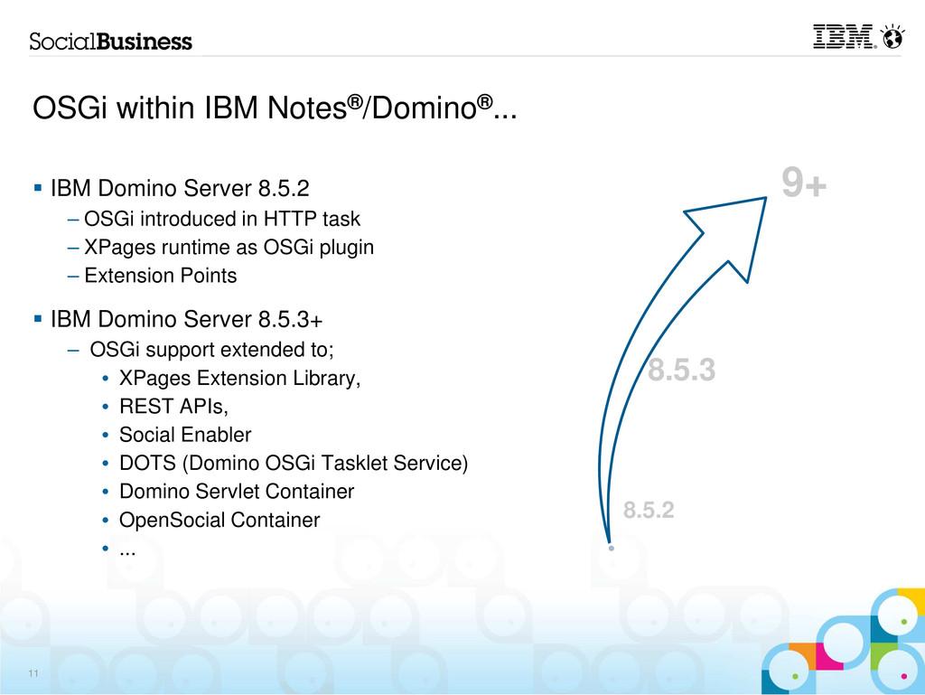 OSGi within IBM Notes®/Domino®... IBM Domino Se...