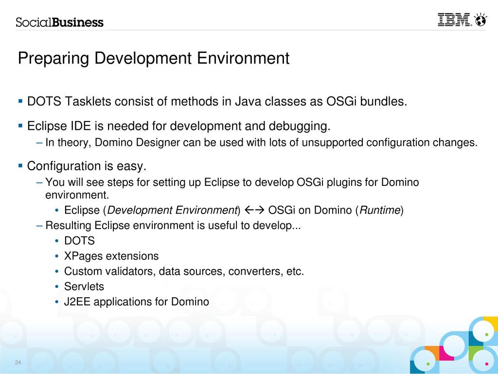 Preparing Development Environment DOTS Tasklets...