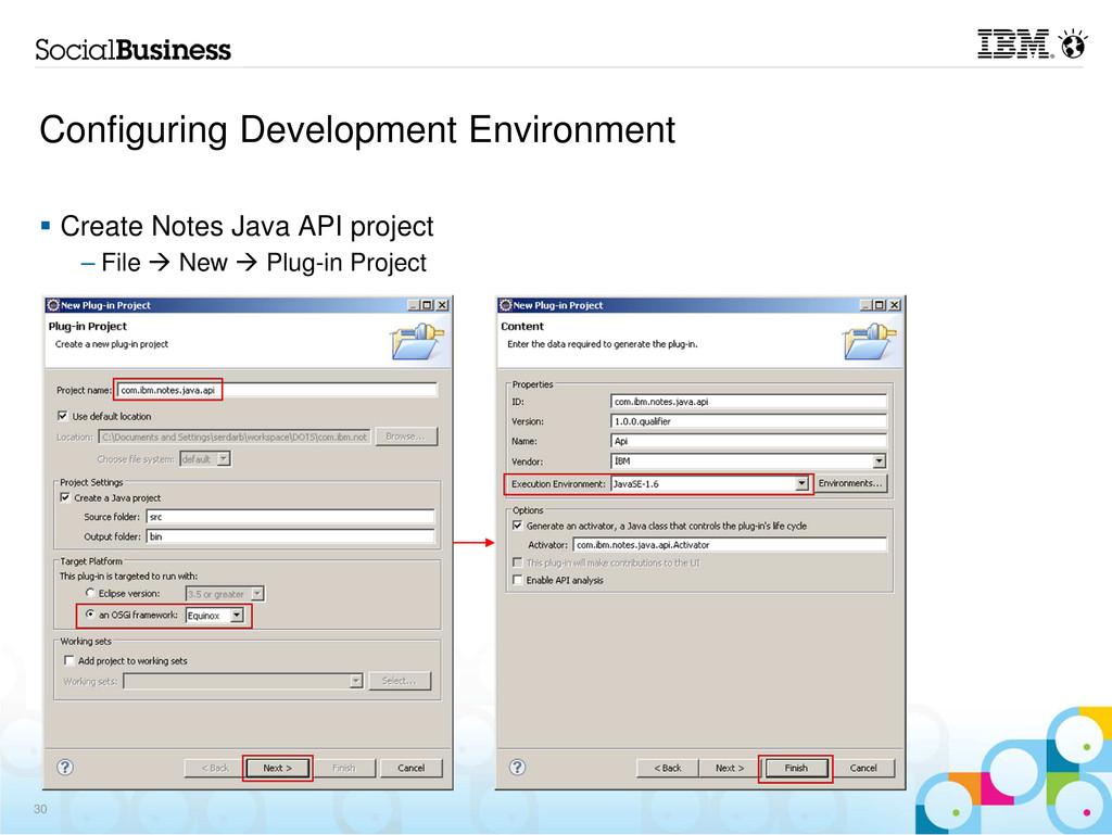 Configuring Development Environment Create Note...