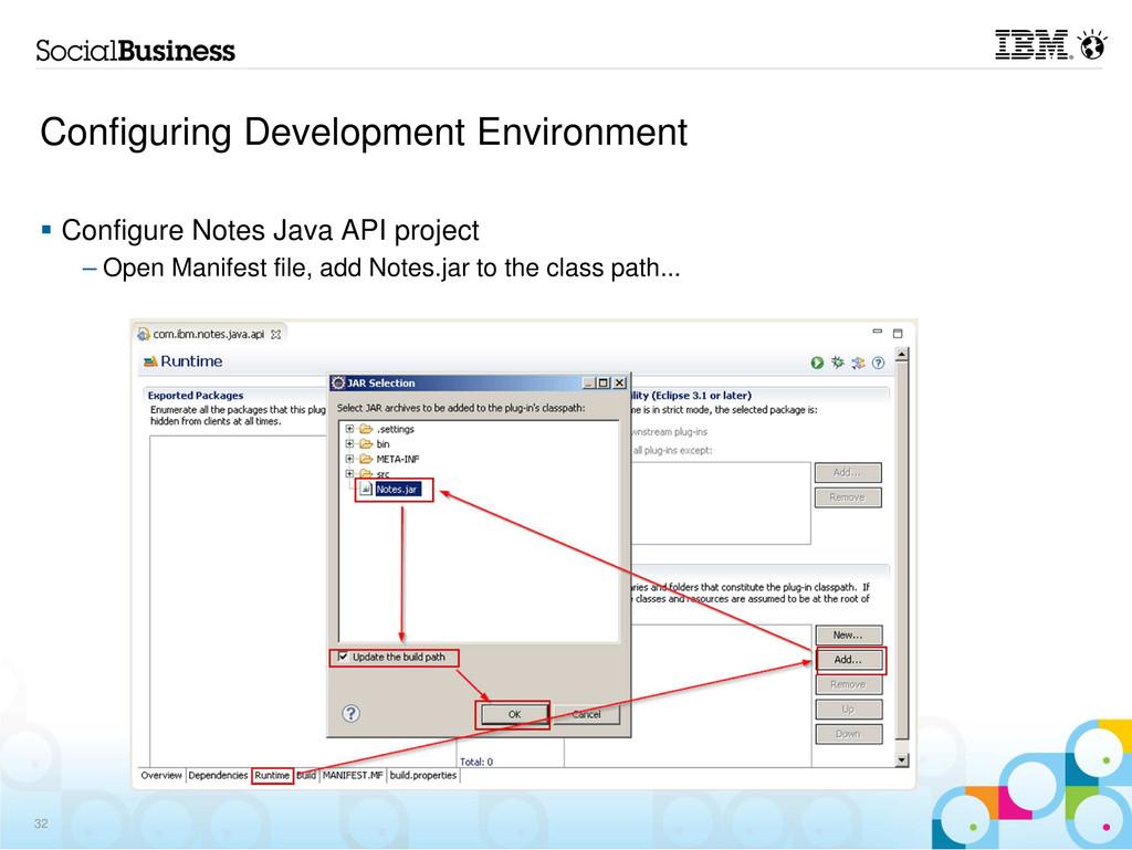 Configuring Development Environment Configure N...