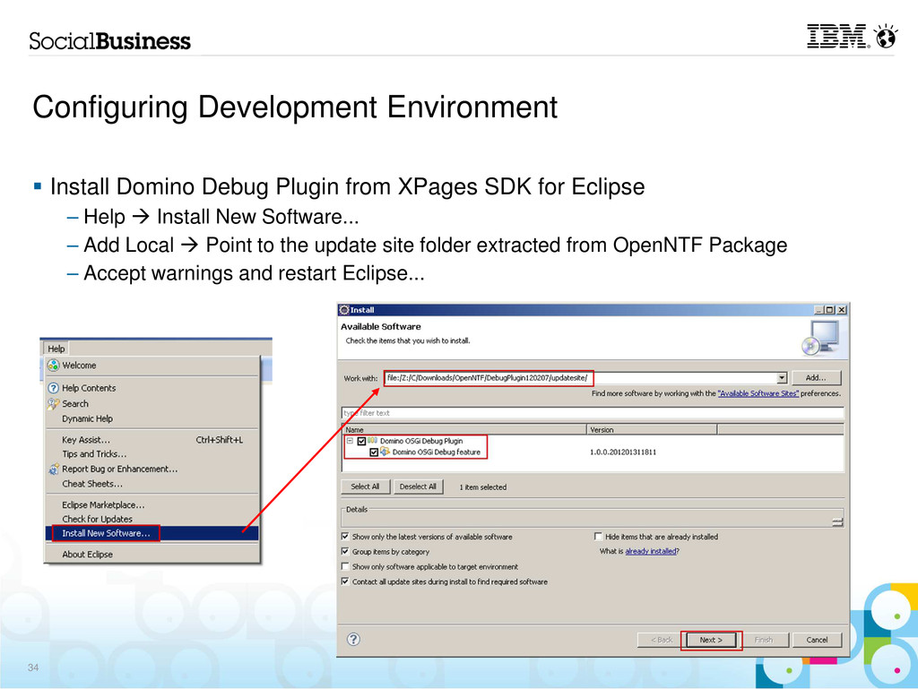 Configuring Development Environment Install Dom...