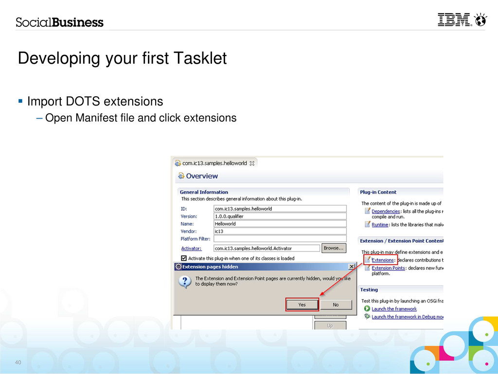 Developing your first Tasklet Import DOTS exten...