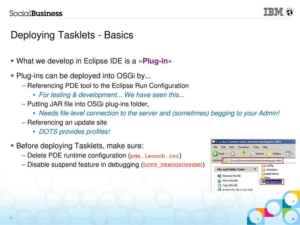 Deploying Tasklets - Basics What we develop in ...
