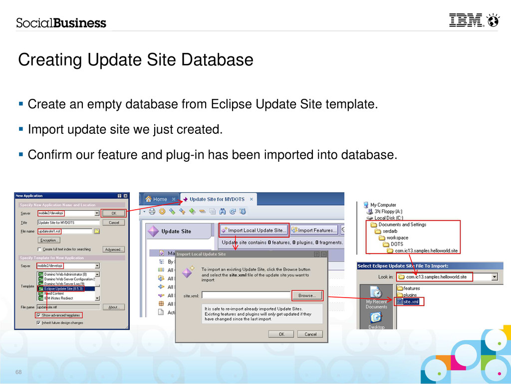 Creating Update Site Database Create an empty d...