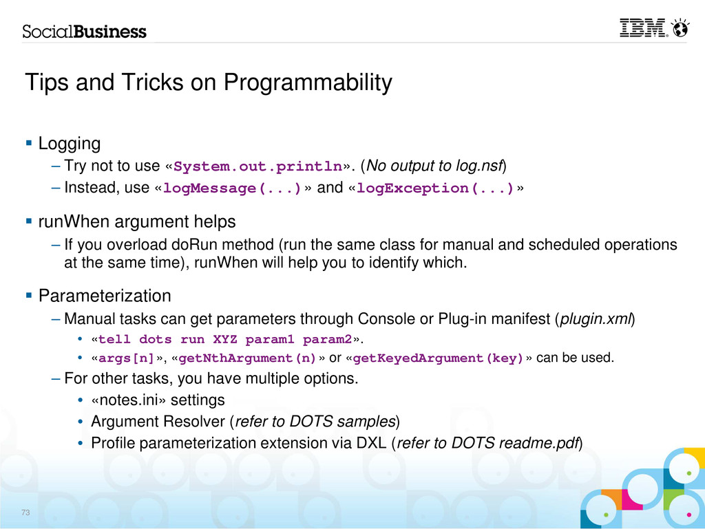 Tips and Tricks on Programmability Logging – Tr...