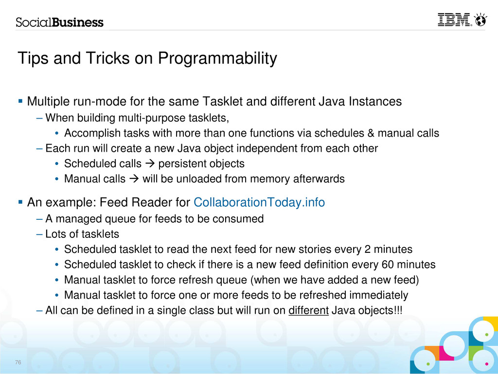 Tips and Tricks on Programmability Multiple run...