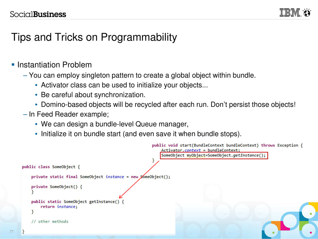 Tips and Tricks on Programmability Instantiatio...