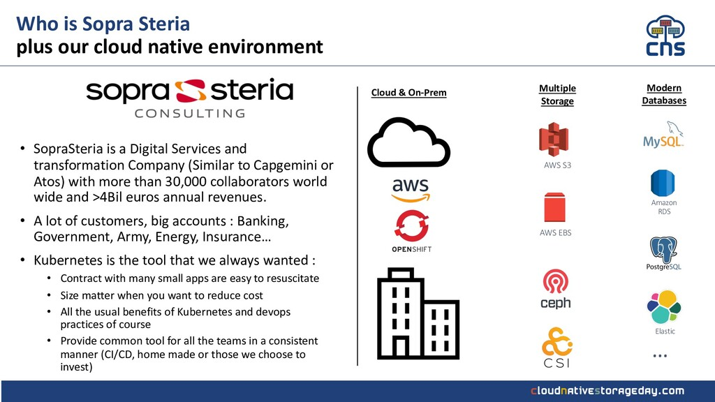 Who is Sopra Steria plus our cloud native envir...
