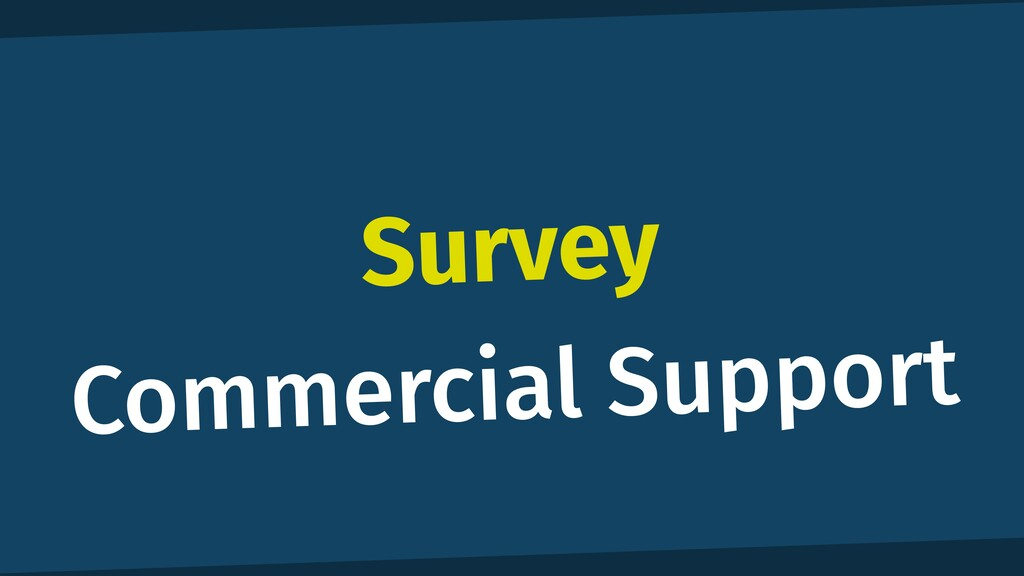 Survey Commercial Support
