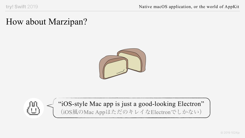 try! Swift 2019 Native macOS application, or th...