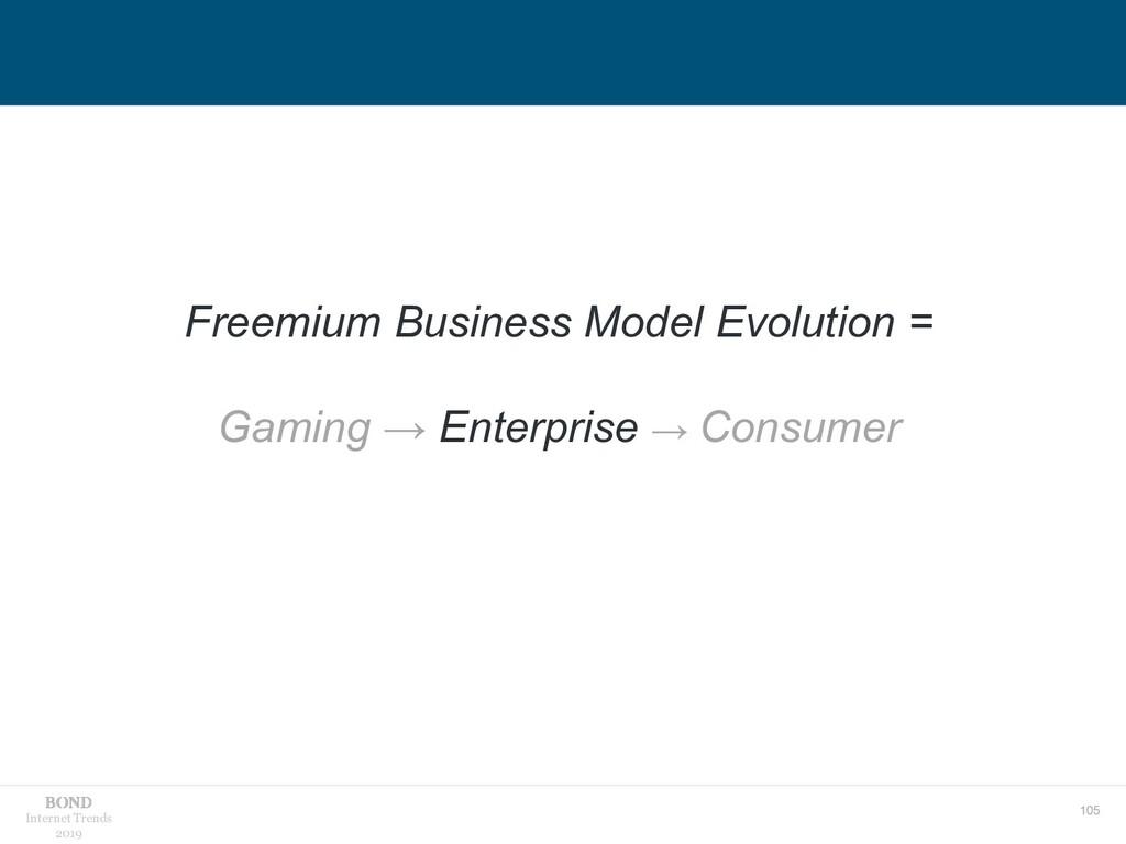 105 Internet Trends 2019 Freemium Business Mode...