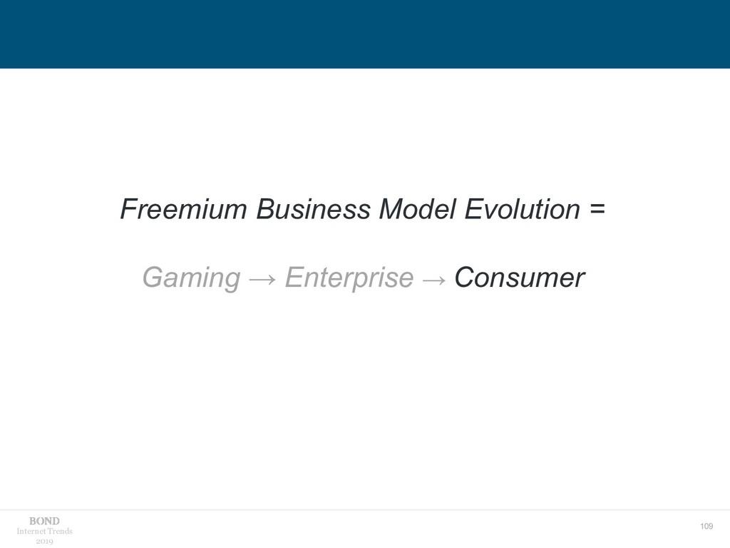 109 Internet Trends 2019 Freemium Business Mode...