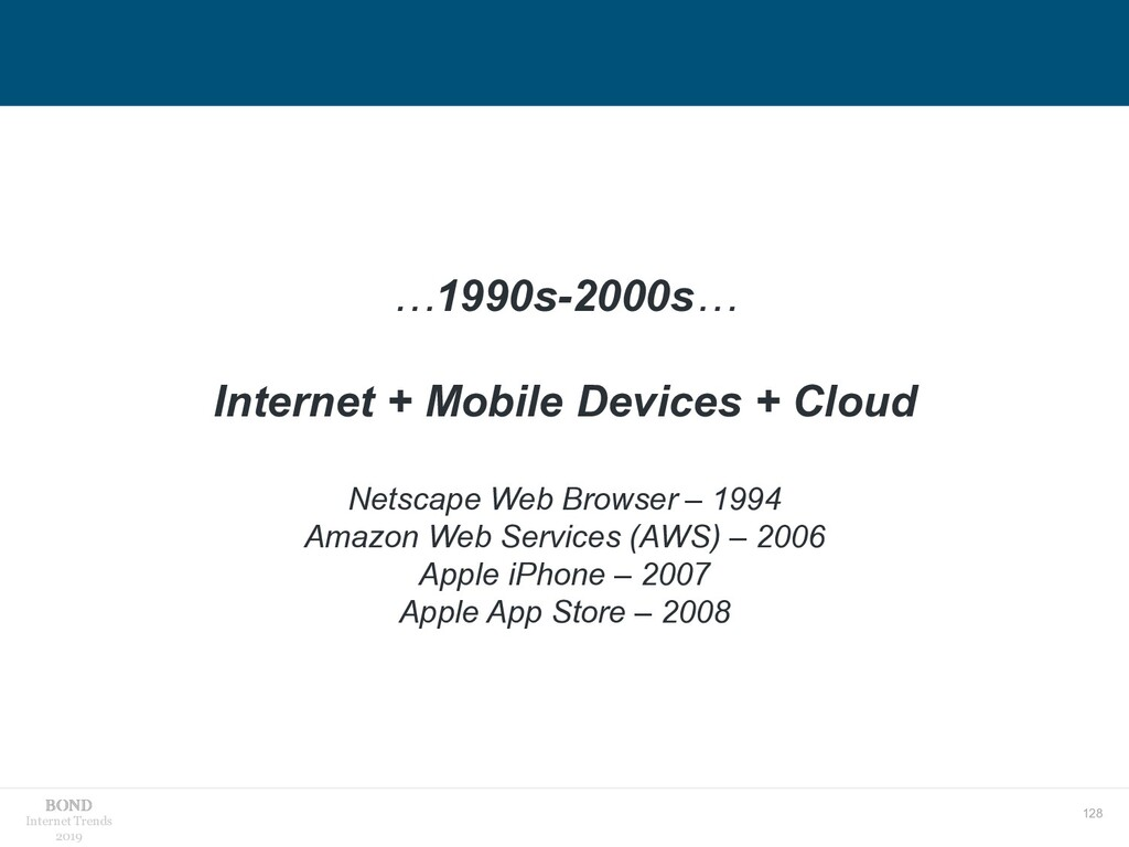 128 Internet Trends 2019 …1990s-2000s… Internet...