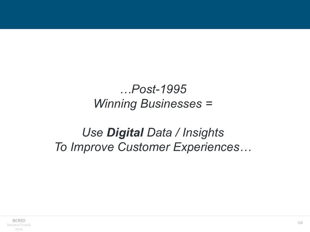 129 Internet Trends 2019 …Post-1995 Winning Bus...