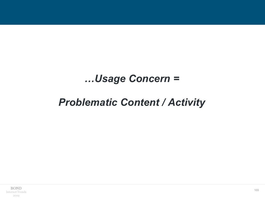 169 Internet Trends 2019 …Usage Concern = Probl...