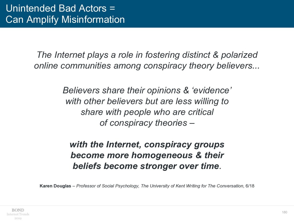 180 Internet Trends 2019 Unintended Bad Actors ...