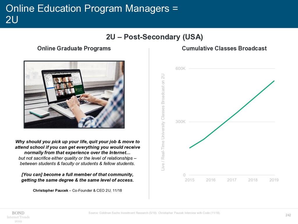 242 Internet Trends 2019 Online Education Progr...