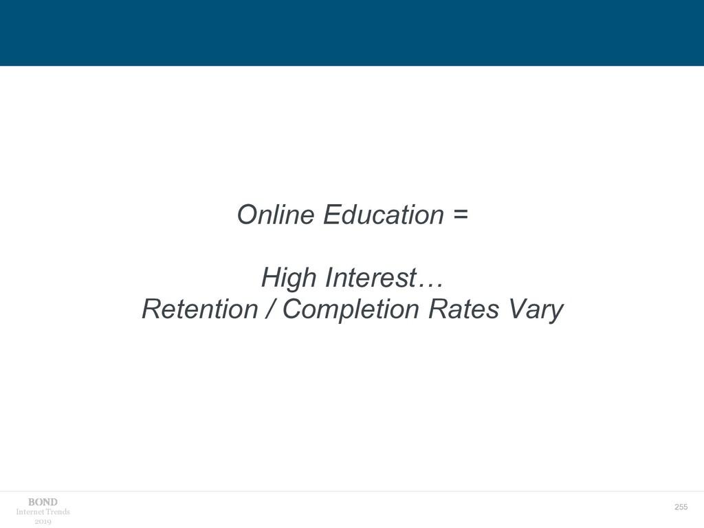 255 Internet Trends 2019 Online Education = Hig...