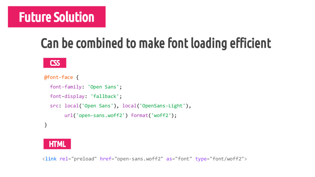 Future Solution Detect specific font loa @font-...