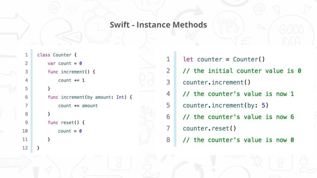 Swift - Instance Methods