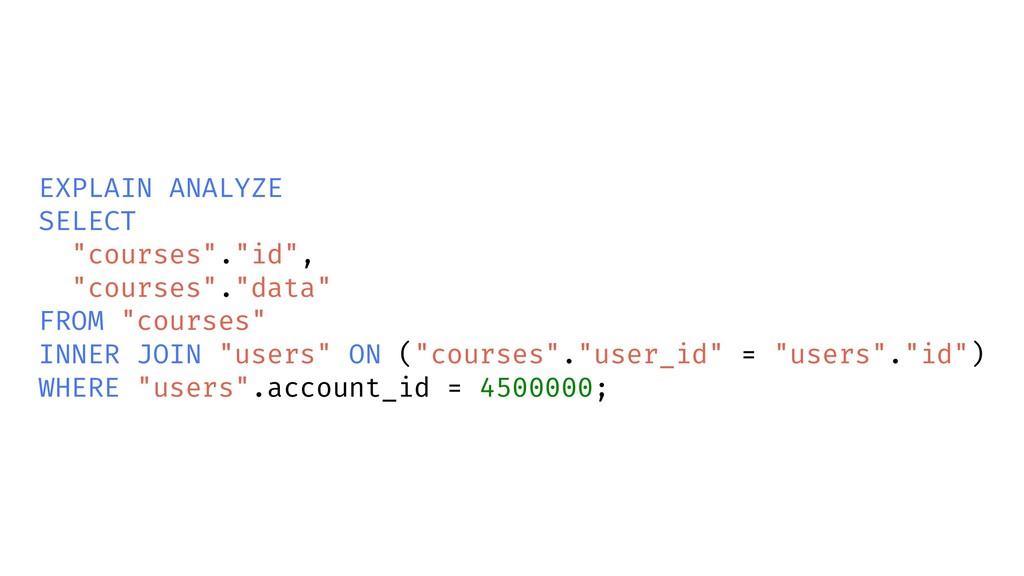 "EXPLAIN ANALYZE SELECT ""courses"".""id"", ""courses..."