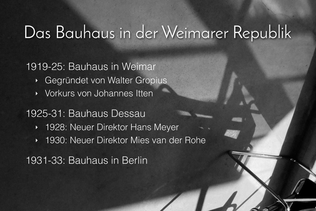 Das Bauhaus in der Weimarer Republik 1919-25: B...