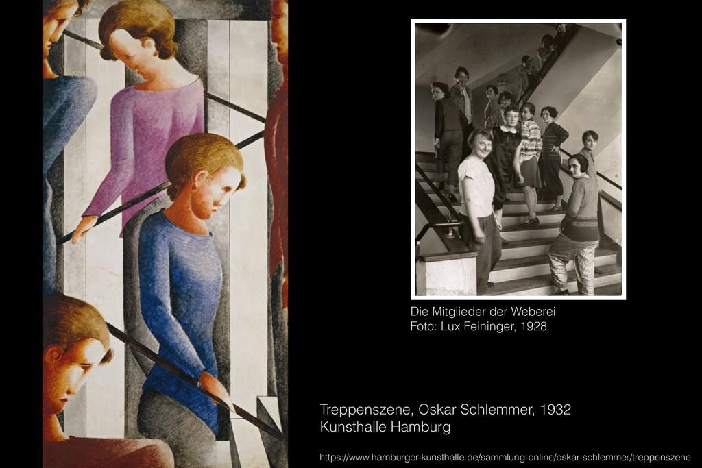 Treppenszene, Oskar Schlemmer, 1932 Kunsthalle ...