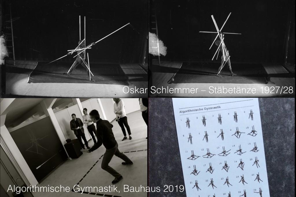 Oskar Schlemmer – Stäbetänze 1927/28 Algorithmi...