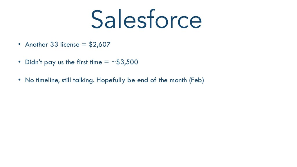 Salesforce THIS WEEK $9,073 98 Orders • Another...