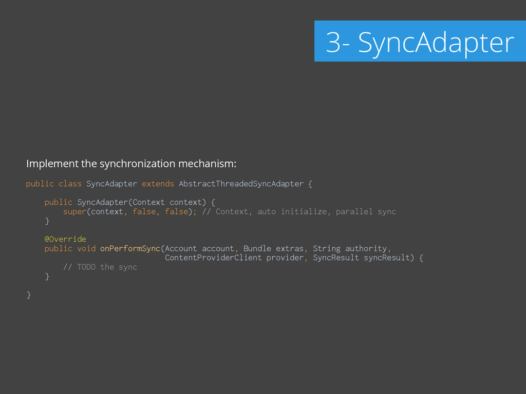 Implement the synchronization mechanism: ! publ...