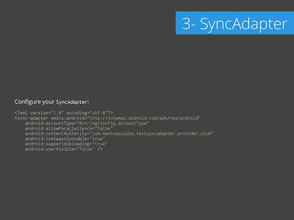 "Configure your SyncAdapter: ! <?xml version=""1.0..."
