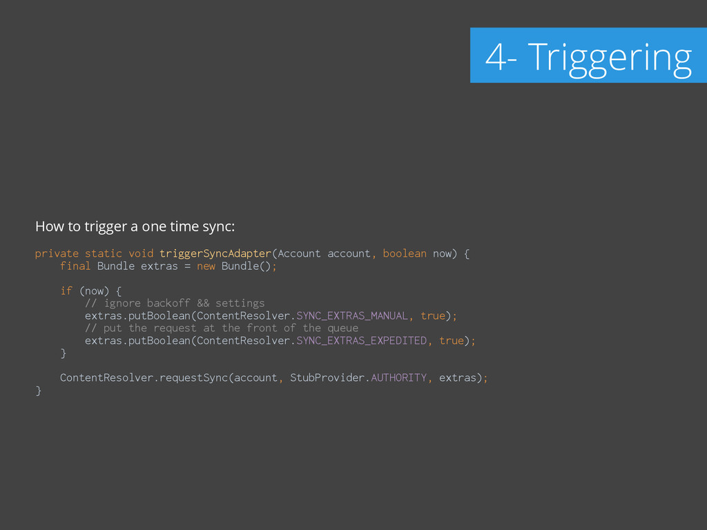 How to trigger a one time sync: ! private stati...