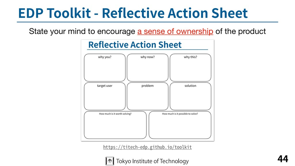 EDP Toolkit - Reflective Action Sheet 44 https:/...