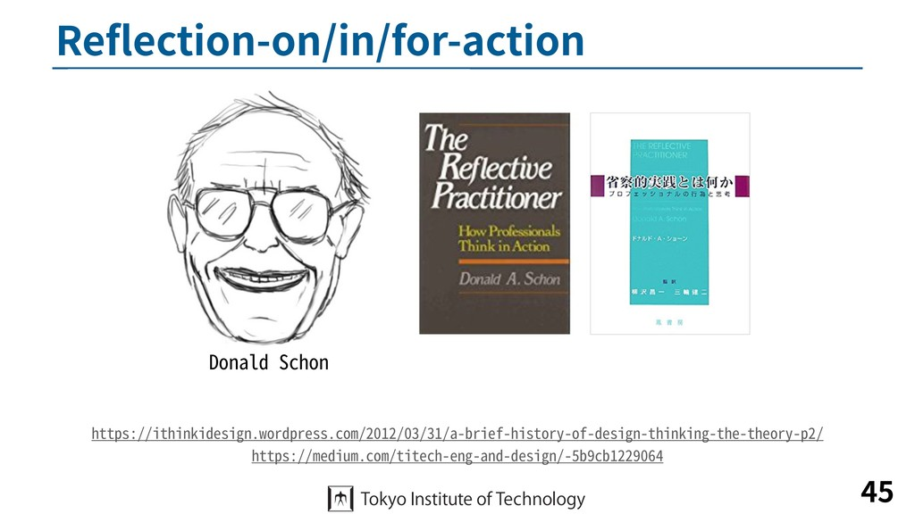 Reflection-on/in/for-action 45 Donald Schon http...