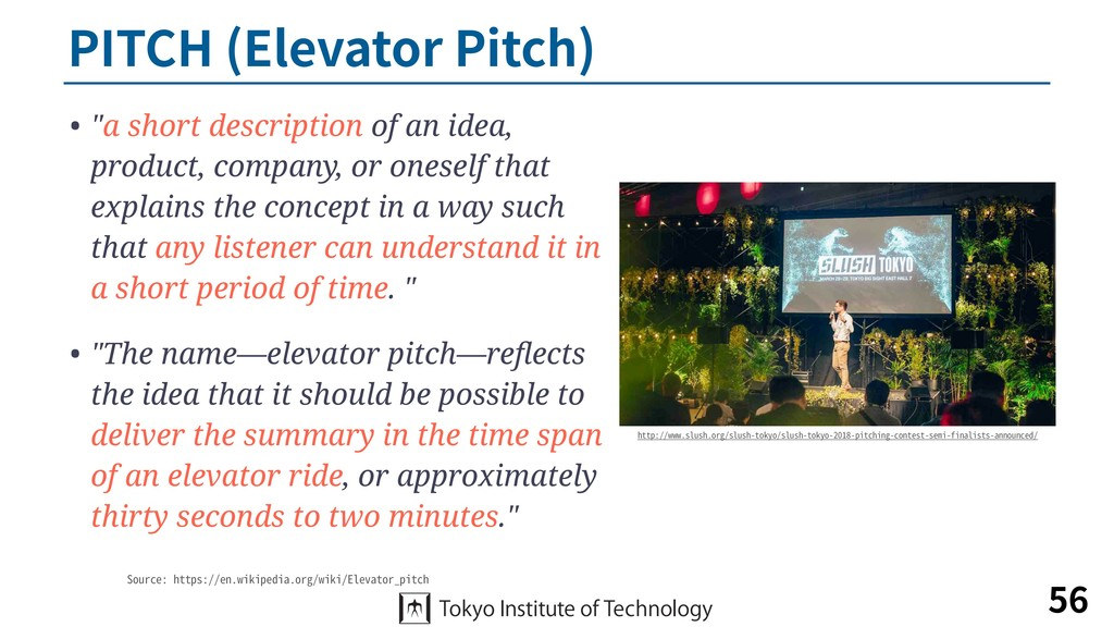 "PITCH (Elevator Pitch) • ""a short description o..."
