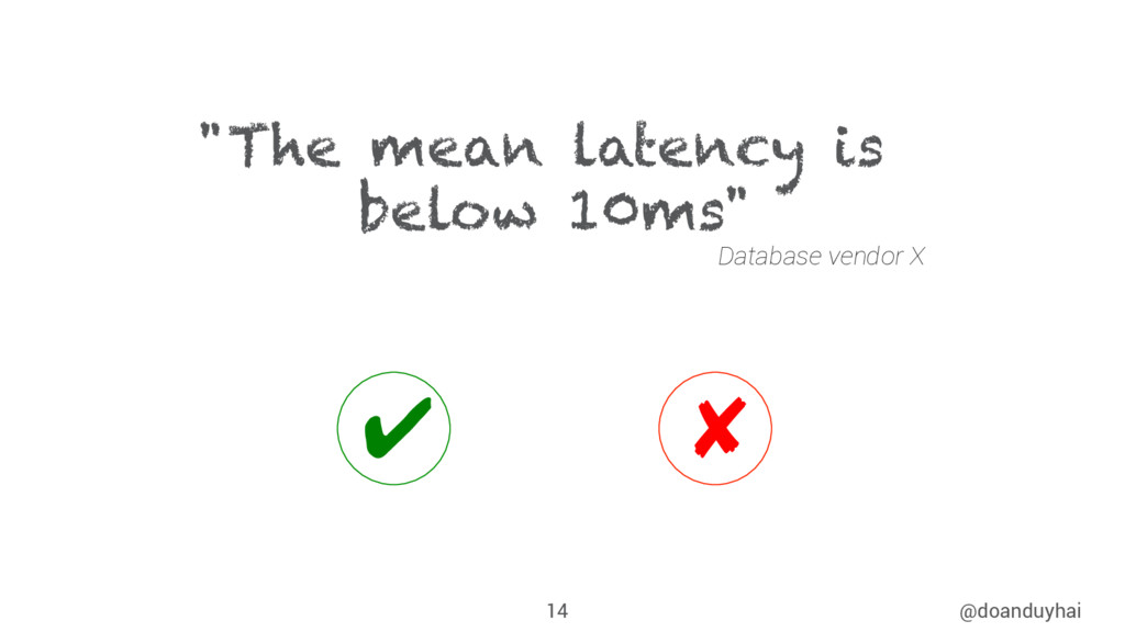 "@doanduyhai 14 ""The mean latency is below 10ms""..."