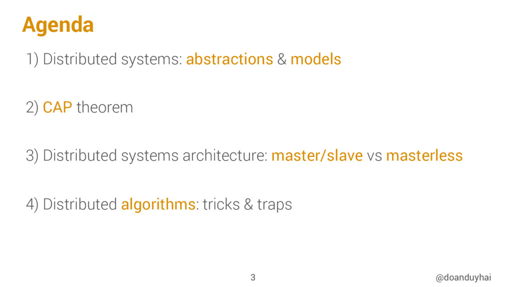 Agenda 1) Distributed systems: abstractions & m...