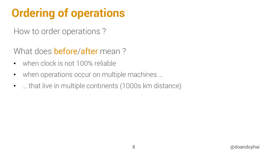 Ordering of operations How to order operations ...