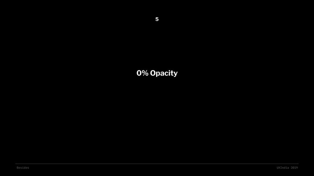 Besides UXIndia 2019 0% Opacity 5